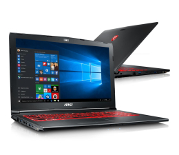 MSI GV62 i5-7300HQ/8GB/1TB/Win10X GTX1050Ti  (GV62 7RE-1891XPL )