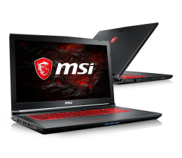 MSI GV72 i7-7700HQ/16GB/1TB GTX1050Ti  (GV72 7RE-1264XPL )