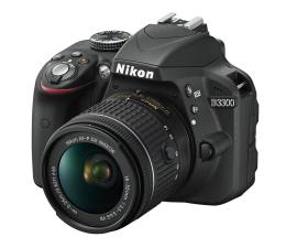 Nikon D3300 czarny + AF-P 18-55 VR  (VBA390K008)