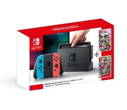 Nintendo Switch Neon + Splatoon 2 + Mario Odyssey (8595142715902 )