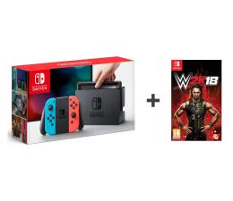 Nintendo Switch Red-Blue Joy-Con + WWE 2K18
