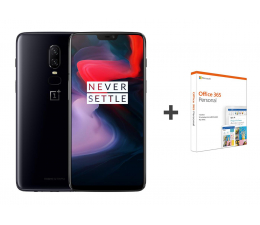OnePlus 6 6/64GB Dual SIM Mirror Black + Office 365 (5011100385 (A6003) + QQ2-00735)