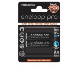 Panasonic Eneloop Pro R6/AA 2500 mAh  (2 szt.) blister (BK-3HCDE-2BE)