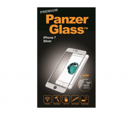 PanzerGlass Szkło Curved Edges Premium do iPhone 7/8 Silver  (5711724026010 / 2601)