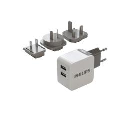 Philips Ładowarka sieciowa 2 x USB 3.1A Travel kit (DLP2220/10)