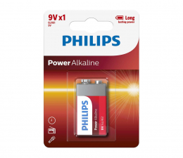 Philips Power Alkaline 9V LR61 (1szt) (6LR61P1B/10)