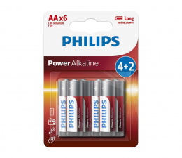 Philips Power Alkaline AA (6szt) (LR6P6BP/10)
