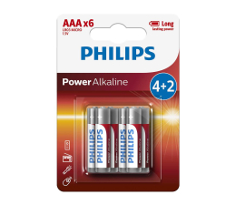 Philips Power Alkaline AAA (6szt) (LR03P6BP/10)