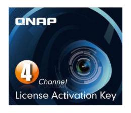 QNAP Licencja Camera License Pack (4 dodatkowe kamery) (LIC-CAM-NAS-4CH)