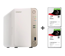 QNAP TS-251B-2G 6TB (2xHDD, 2x2-2.5GHz, 2GB, 5xUSB) (TS-251B-2G (w zestawie 2xST3000VN007))