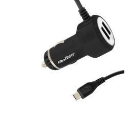 Qoltec Ładowarka samochodowa 2xUSB 4.1A 5V 20.5W + kabel (50028.20.5W)