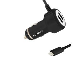 Qoltec Ładowarka samochodowa USB typ C 5V 4.8A 2xUSB (50170.24W)