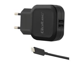 Qoltec Ładowarka Sieciowa 2 x USB 3,4A 17W + USB-C (50188)