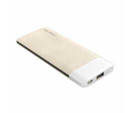 Qoltec Power bank 6000 mAh 2.1A caffee (51998)