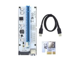 Qoltec Riser PCi-E 1x-16x USB 3.0 008S SATA,MOLEX (55502)