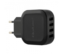 Qoltec Sieciowa 4 x USB 5V 24W 4,8A  (50192)