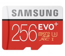 Samsung 256GB microSDXC Evo+ zapis 90MB/s odczyt 95MB/s  (MB-MC256DA/EU)