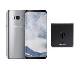 Samsung Galaxy S8 G950F Arctic Silver + ładow. indukcyjna (SM-G950FZSAXEO+ACW0050)