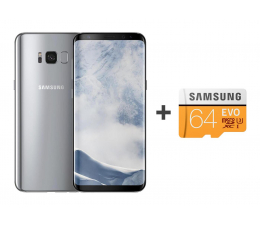 Samsung Galaxy S8 G950F Arctic Silver + 64GB (SM-G950FZSAXEO+MB-MP64GA/EU)