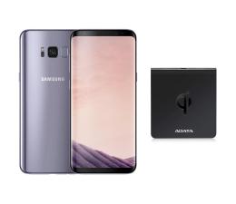 Samsung Galaxy S8 G950F Orchid Grey+ładow. indukcyjna  (SM-G950FZVAXEO+ACW0050)