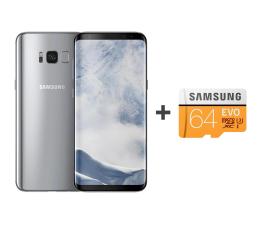 Samsung Galaxy S8+ G955F Arctic Silver + 64GB (SM-G955FZSAXEO+MB-MP64GA/EU)