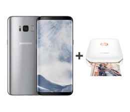 Samsung Galaxy S8+ G955F Arctic Silver + drukarka BT (SM-G955FZSAXEO+Z3Z92A#633)