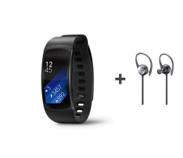 Samsung Gear Fit 2 (L) czarny + Level Active Earphone (EO-BG930CB_SM-R3600DAA)