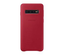 Samsung Leather Cover do Galaxy S10 czerwony (EF-VG973LREGWW)