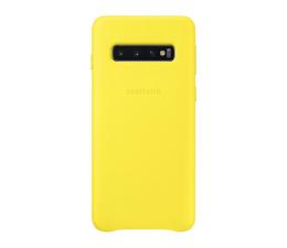 Samsung Leather Cover do Galaxy S10 żólty (EF-VG973LYEGWW)