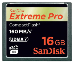 SanDisk 16GB Extreme Pro zapis 150MB/s odczyt 160MB/s  (SDCFXPS-016G-X46)