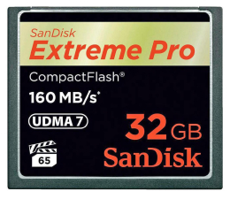 SanDisk 32GB Extreme Pro zapis 150MB/s odczyt 160MB/s  (SDCFXPS-032G-X46)