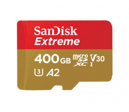 SanDisk 400GB microSDXC Extreme 160MB/s A2 C10 V30 UHS-I  (SDSQXA1-400G-GN6MA)