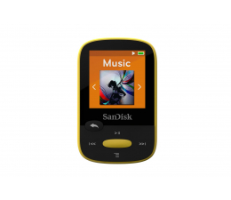 SanDisk Clip Sport 4GB Yellow (microSD, słuchawki, FM,LCD) (SDMX24-004G-G46Y / SDMX24-004G-G46YP)