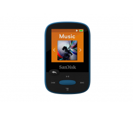 SanDisk Clip Sport 8GB Blue (microSD, słuchawki, FM, LCD) (SDMX24-008G-G46B / SDMX24-008G-G46BP)