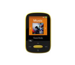 SanDisk Clip Sport 8GB Yellow (microSD, słuchawki, FM,LCD) (SDMX24-008G-G46Y / SDMX24-008G-G46YP)