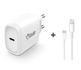 Silver Monkey Ładowarka sieciowa 18W + kabel Apple do iPhone 2m  (PD-UC18W-SM+MKQ42ZM/A)