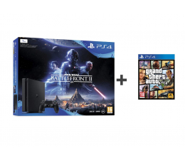 Sony PlayStation 4 1TB Slim + SW Battlefront II + GTA V (711719964865)
