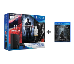 Sony PlayStation 4 1TB SLIM+UC4+DC+TLOU+BloodBorne (D Chassis)