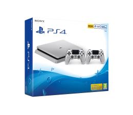 Sony PlayStation 4 500GB SLIM Srebrna + PAD  (D Chassis)
