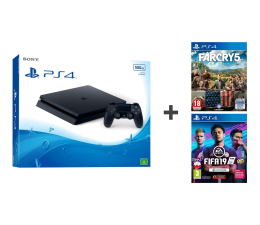 Sony PlayStation 4 Slim 500GB + FIFA 19 + Far Cry 5 (711719866268 / 5035225121914)