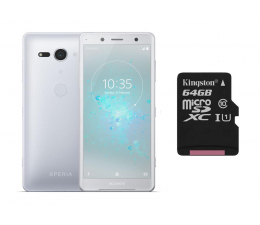 Sony Xperia XZ2 Compact H8324 DS Białe srebro + 64GB (1313-8384+SDCS/64GB)