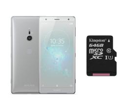 Sony Xperia XZ2 H8266 Dual SIM Płynne srebro + 64GB (1313-8196+SDCS/64GB)