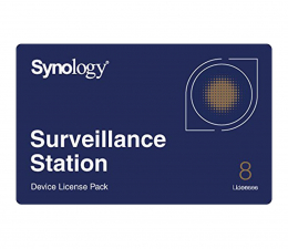 Synology Licencja Camera License Pack (8 dodatkowych kamer) (CAMERA LICENSE PACK (X 8))