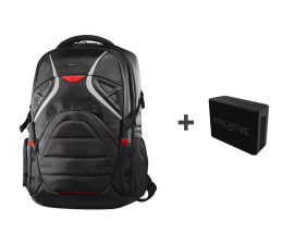 Targus Strike Gaming backpack + Muvo 1c czarny (TSB900EU + 51MF8251AA000)
