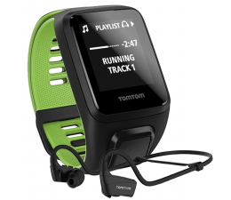 TomTom Runner 3 Music+HP L czarno-zielony (1RLM.001.10)