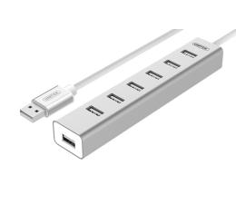 Unitek Aluminiowy Hub 7x USB 2.0 + zasilacz (Y-2183)