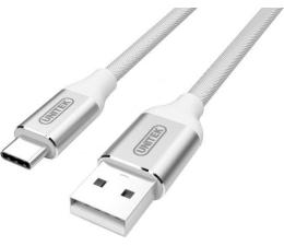 Unitek Kabel usb c -> usb 2.0 w oplocie srebrny (Y-C4025ASL)