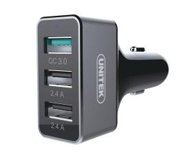 Unitek Ładowarka Samochodowa 2 x USB 2.4A + QC 3.0 42W (Y-P530C)