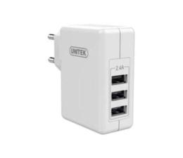 Unitek Ładowarka Sieciowa 3 x USB 2,4A 24W (Y-P537B)