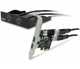 "Unitek PCI Express -> 2x USB 3.0 + panel 3,5"" 2 x USB 3.0 (Y-6119)"